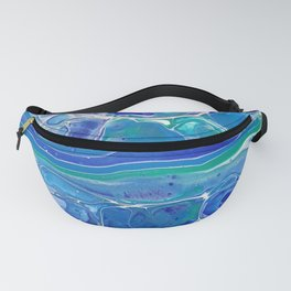 Swipe. A blue and White Abstract Fanny Pack