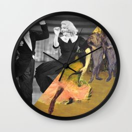 Henri Toulose Lautrec's Dance at Moulin R. & Ginger Rogers Wall Clock
