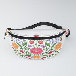 Hungarian folk pattern – Kalocsa embroidery flowers Fanny Pack