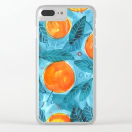 Tangerine love! Clear iPhone Case