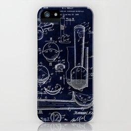 Ice Cream Scoop Blueprint iPhone Case