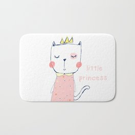 CAT CARTOON PRINCESS Bath Mat