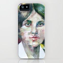 LOUISA MAY ALCOTT watercolor portrait iPhone Case