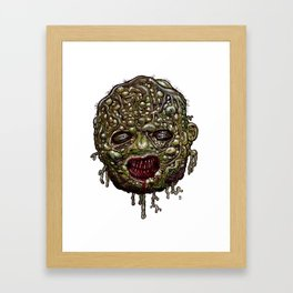 Heads of the Living Dead Zombies: Tomber Zombie Framed Art Print
