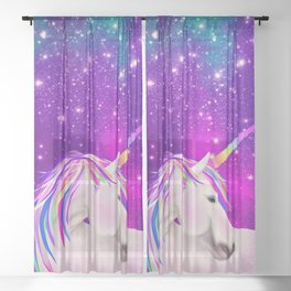 Celestial Unicorn Sheer Curtain