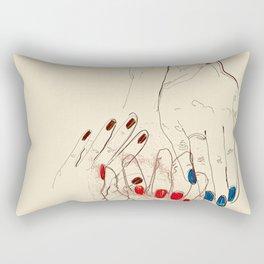 Nail Polish Rectangular Pillow