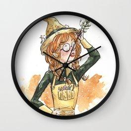 Garden Variety Witch Wall Clock