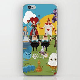 alice in wonderland collection iPhone Skin