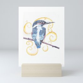 Kingfisher - Inked Mini Art Print
