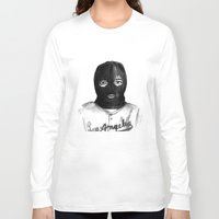 ski Long Sleeve T-shirts featuring Ski Mask by Pray M O S E S™