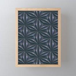 Engraved Surface Tin Grey Framed Mini Art Print