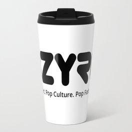 BZYRQ Logo (Black on White) Travel Mug