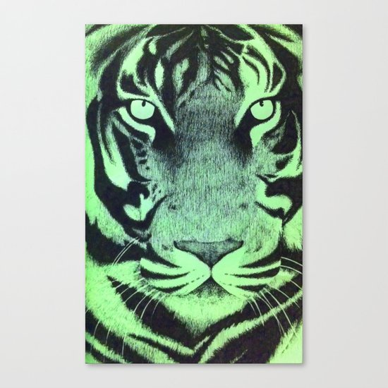 Be A Tiger (Green) Canvas Print