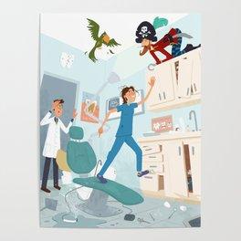 Mayhem at the Dentist Poster