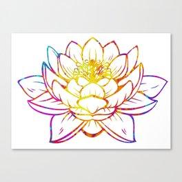 Watercolor Lotus Canvas Print