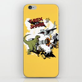 T-Rex VS Shark  iPhone Skin