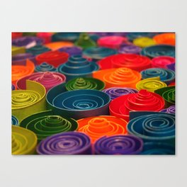 Rolled Color 2 Canvas Print