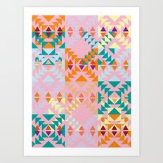 GEO GRAPHIC JOY  Art Print