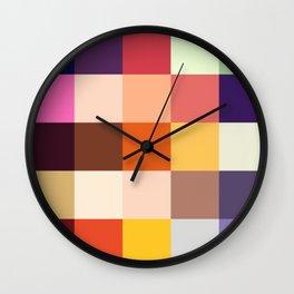 Karakoncolos - Colorful Decorative Abstract Pixel Pattern Wall Clock