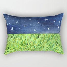 Grass & Stars Rectangular Pillow