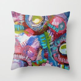 Les Droseras (série Au jardin) Throw Pillow