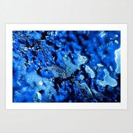 Frozen Windscreen,  Abstract Macro #1 Art Print