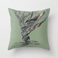 deer Throw Pillows featuring Dream Again by Huebucket