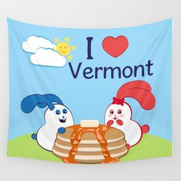 Ernest and Coraline | I love Vermont Wall Tapestry