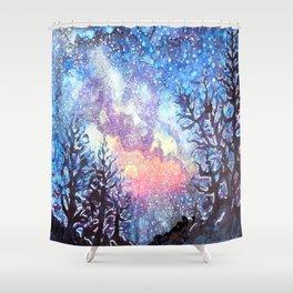 Galaxy Spring Night by CheyAnne Sexton Shower Curtain