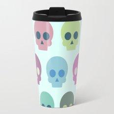 Colorful Skull Cute Pattern Travel Mug