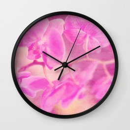 Scripted Orchid Wall Clock