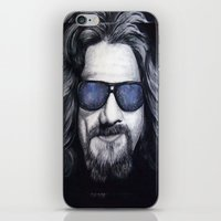 lebowski iPhone & iPod Skins featuring The Dude Lebowski by Black Neon