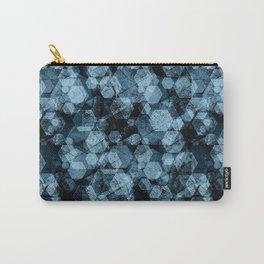 Blue hexagons. Kaleidoscope Carry-All Pouch