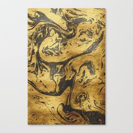 Black Dragon Marble Canvas Print