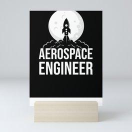 Aerospace Engineer Astronaut Gift Engineering Mini Art Print