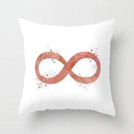 Infinity Symbol Art Timeless Art Rose Gold Colorful Watercolor Art Meditation Art Yoga Gifts Throw Pillow