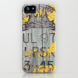 All and Sundry iPhone Case