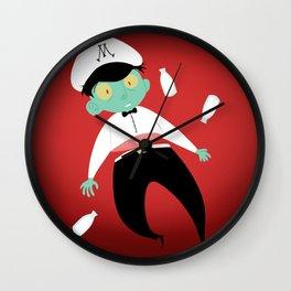 Ghost of a Milkman Wall Clock
