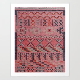 V21 New Traditional Moroccan Design Carpet Mock up. Art Print