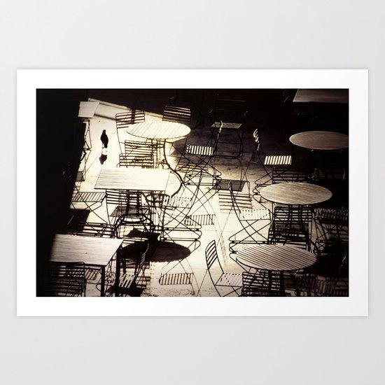 empty cafe Art Print