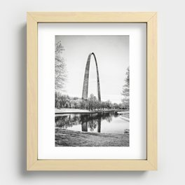 The St. Louis Arch Recessed Framed Print