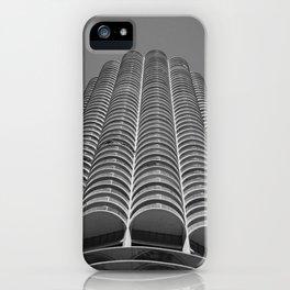 Marina City Tower Photo, Chicago, Architecture iPhone Case
