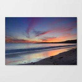 """Bolonia beach at sunset"" Canvas Print"