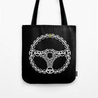 audi Tote Bags featuring Steering Wheel by Barbo's Art