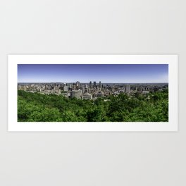 Montreal from Mont Royal Art Print