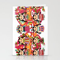 mexican Stationery Cards featuring Mexican Dolls by Alapapaju