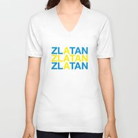 zlatan V-neck T-shirts featuring ZLATAN by eyesblau