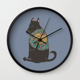 Black Dog in a Kitten Coat Wall Clock