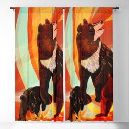 Taiga on fire Blackout Curtain
