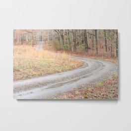 Gravel Road Metal Print